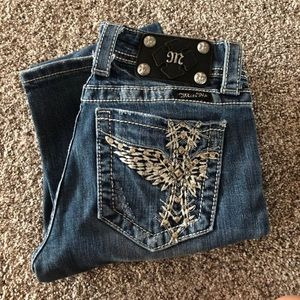 Miss Me Bling crosses Bootcut Size 27 x 31